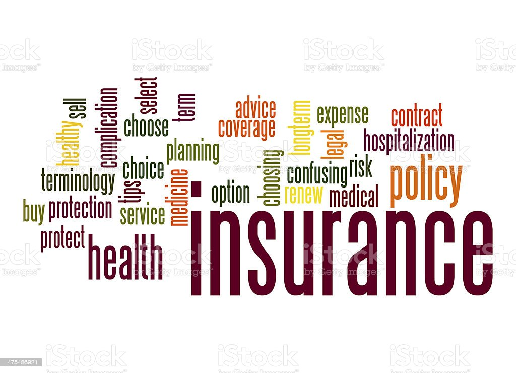 Insurance word cloud stock photo