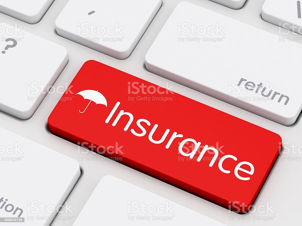 Insurance written on keyboard key stock photo