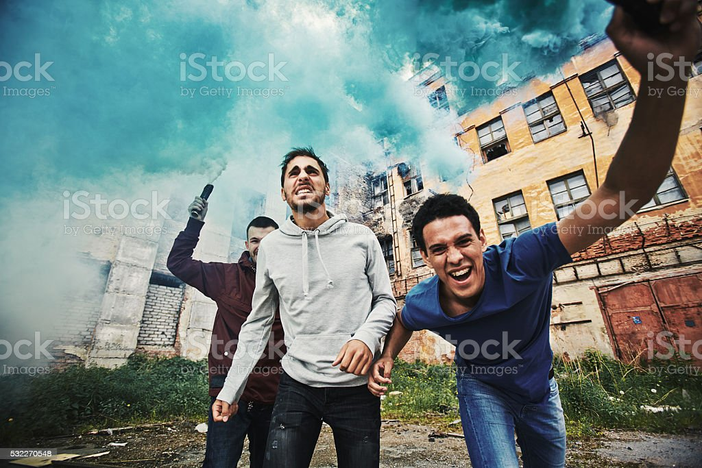 Insurrection stock photo