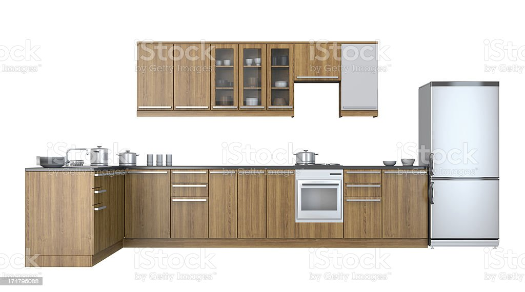 Integral kitchen  furniture stock photo
