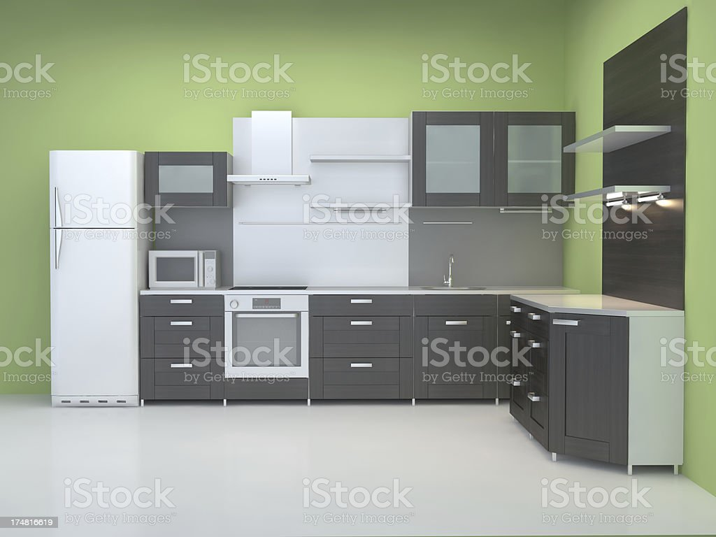 Integral kitchn furniture royalty-free stock photo