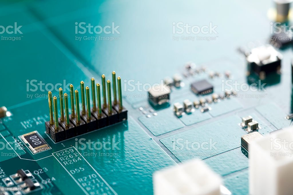Integrated Circuit Board royalty-free stock photo