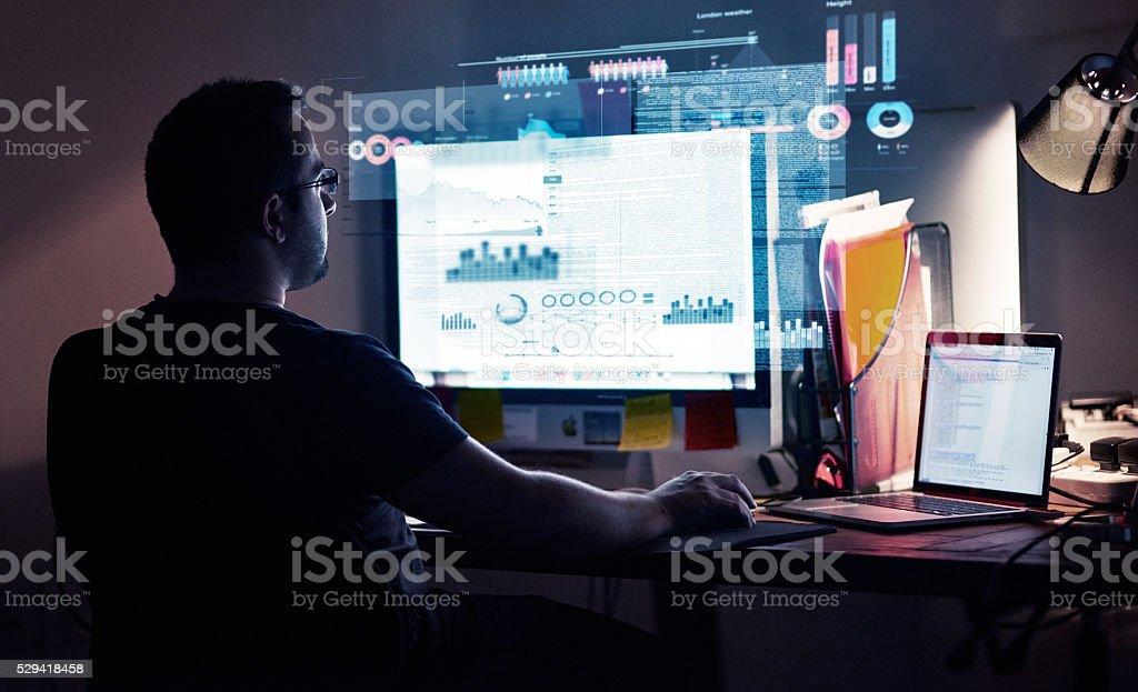 Integrating new code stock photo
