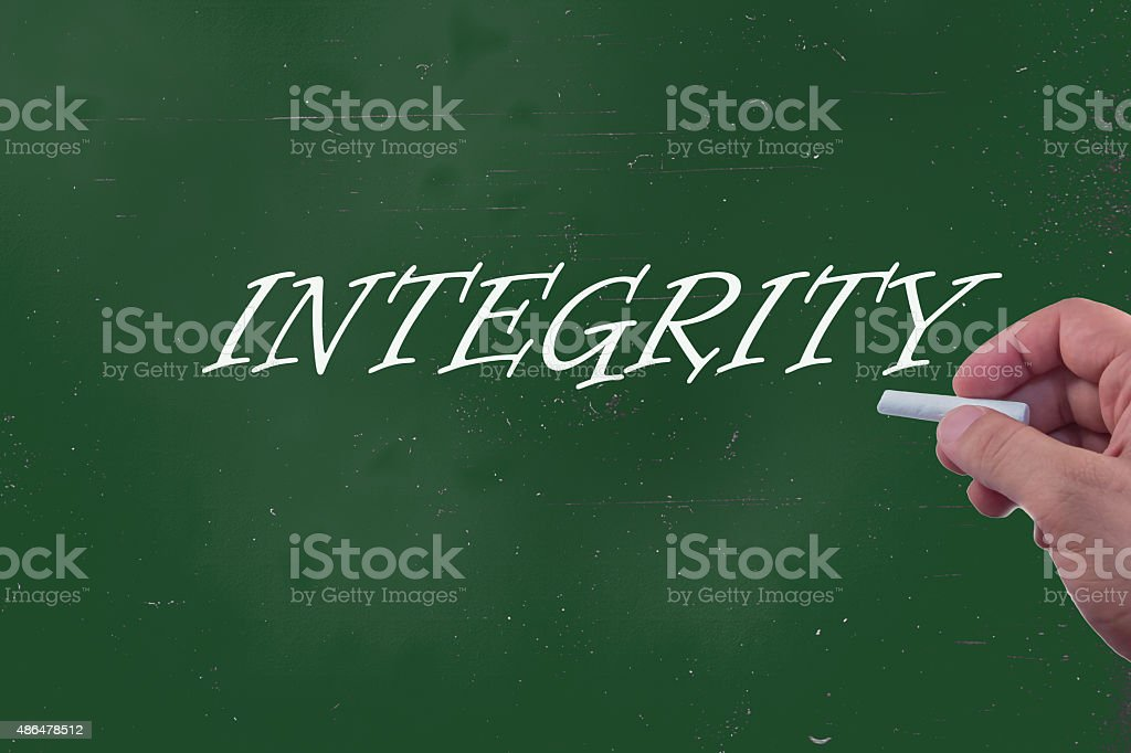 integrity explantion stock photo