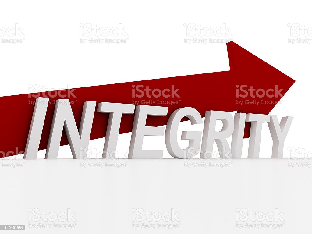 Integrity sign royalty-free stock photo