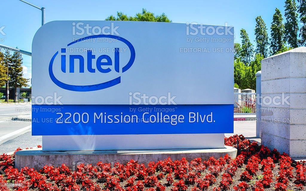Intel Corp. Headquarters - Santa Clara, CA stock photo