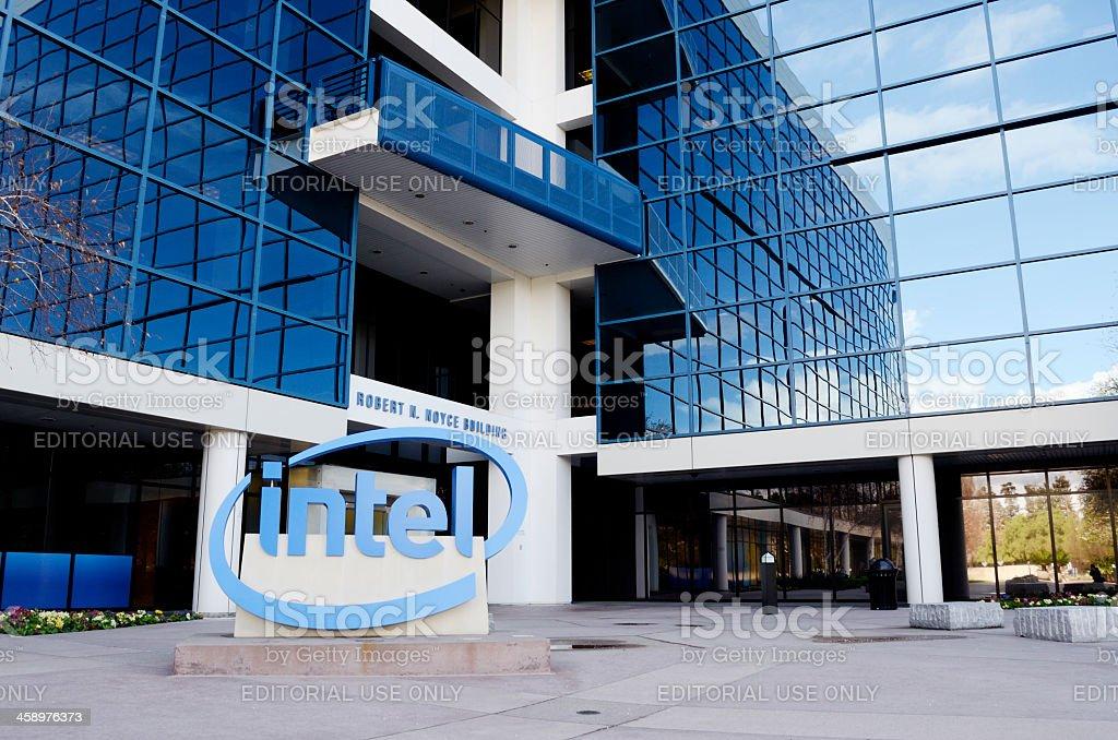 intel headquarters in santa clara stock photo