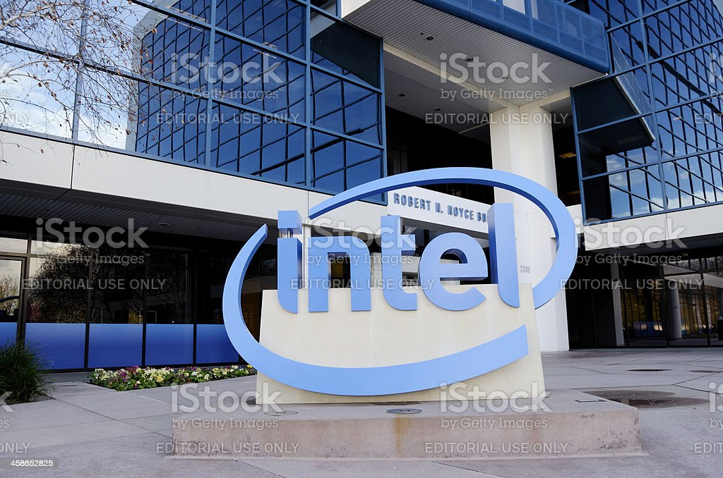 Intel headquarters in silicon valley stock photo