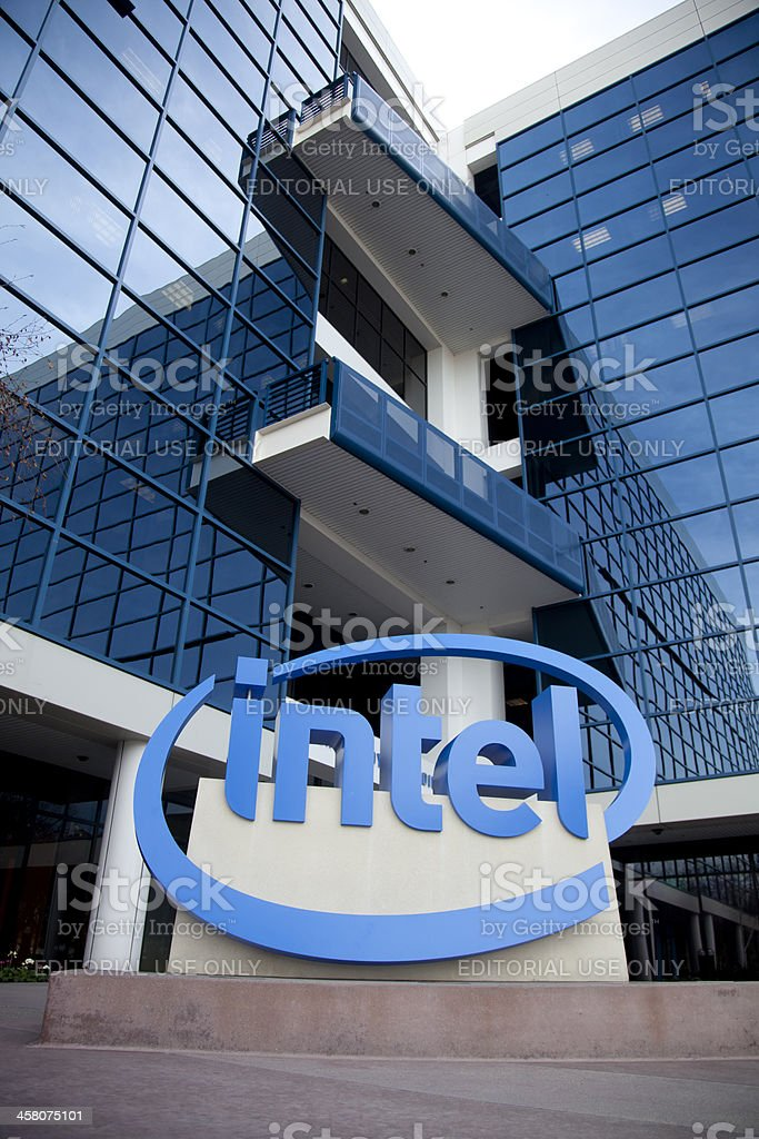 Intel Headquarters stock photo