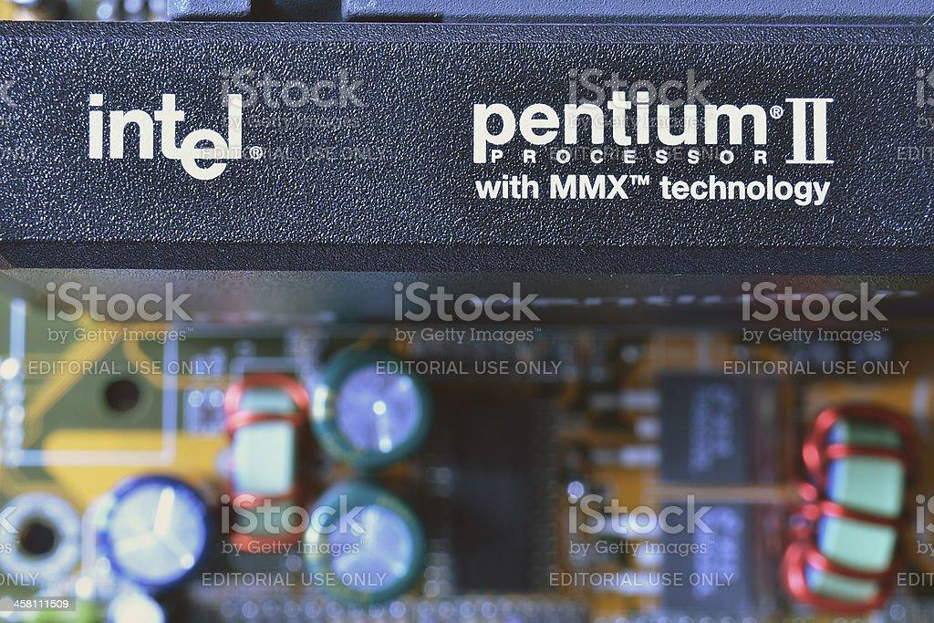 intel pentium II stock photo