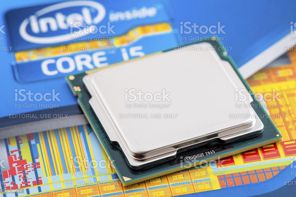 Intel Processor Core i5 2500K stock photo