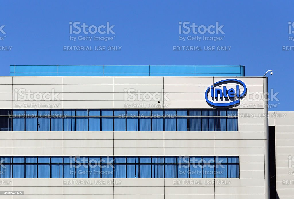 Intel World Headquarters stock photo
