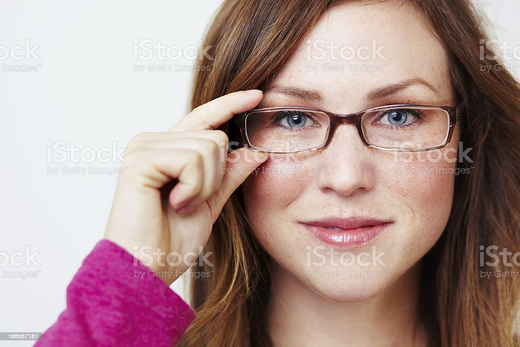 Intellectual and beautiful royalty-free stock photo