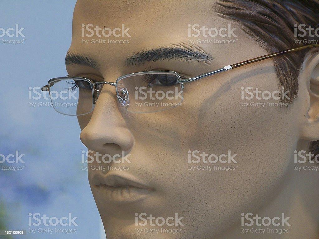 Intellectual male dummy stock photo