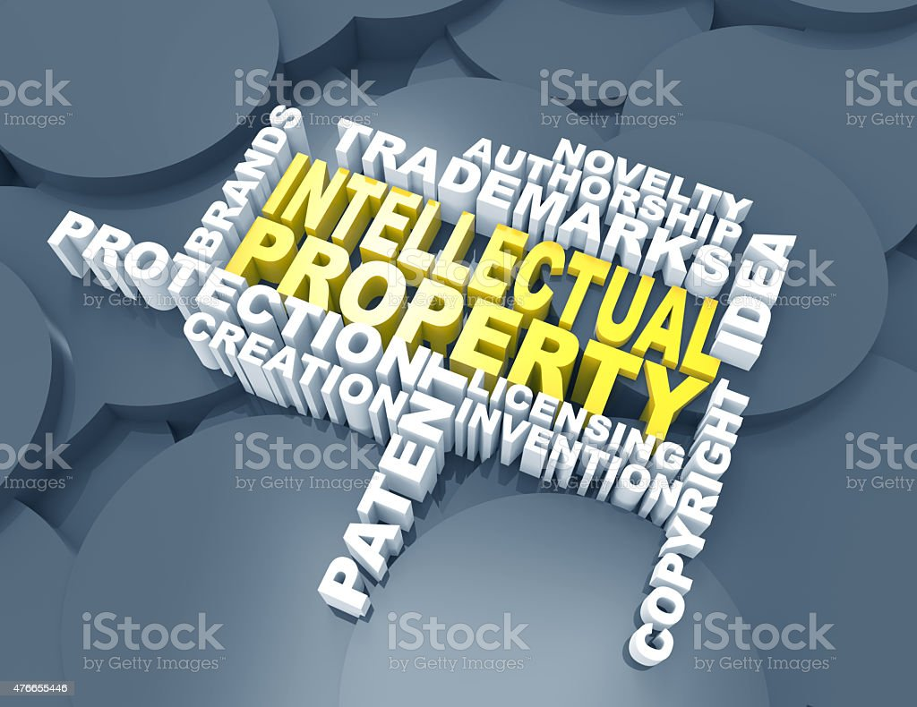 intellectual property,trademarks,patent,wordclouds stock photo