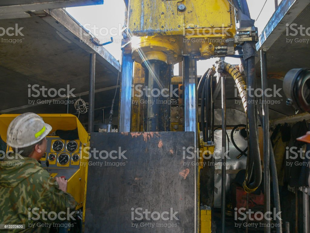 Intelligence Drilling wells stock photo