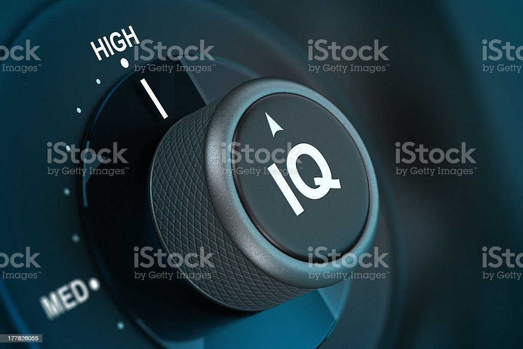 IQ, Intelligence Quotient Test stock photo