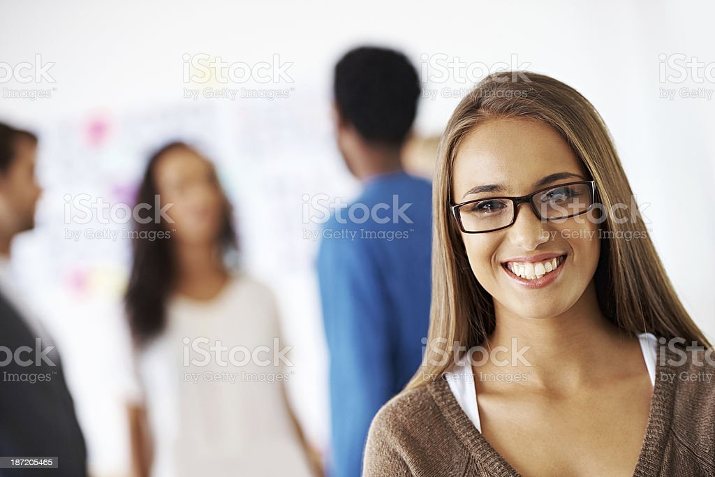Intelligent, creative, and passionate royalty-free stock photo