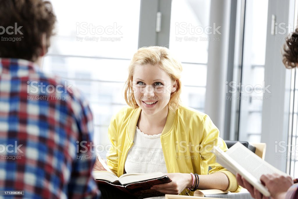 Intelligent discussion royalty-free stock photo