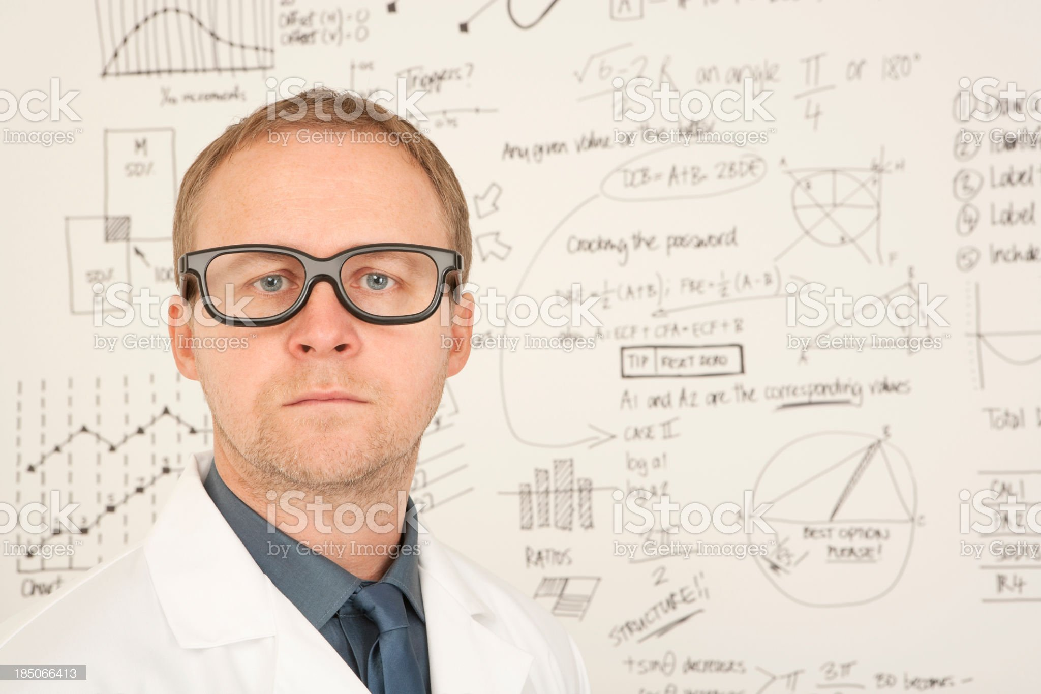 Intelligent man in white lab coat royalty-free stock photo