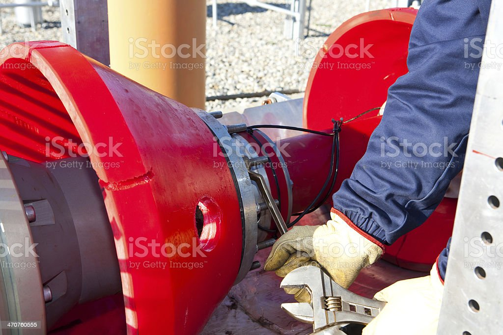 Intelligent PIG for the control of a pipeline stock photo