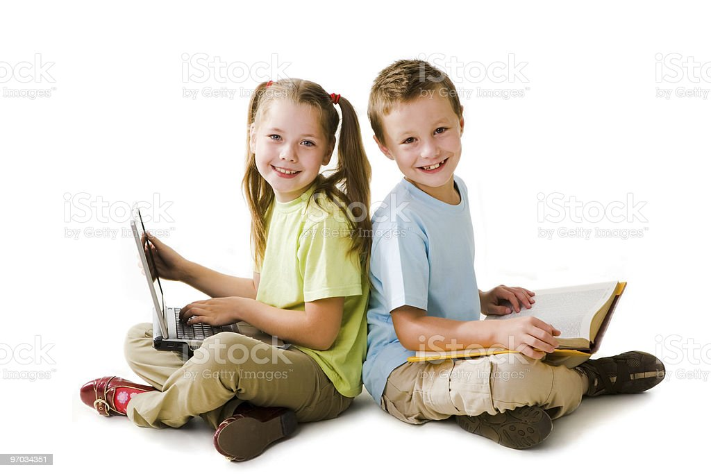 Intelligent pupils royalty-free stock photo