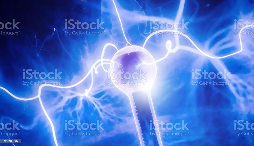 Intense electrical discharge and stock photo