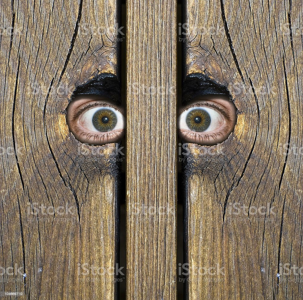 Intense eyes! stock photo