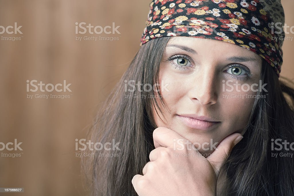 Intense Hippie Portrait (XXXL) royalty-free stock photo