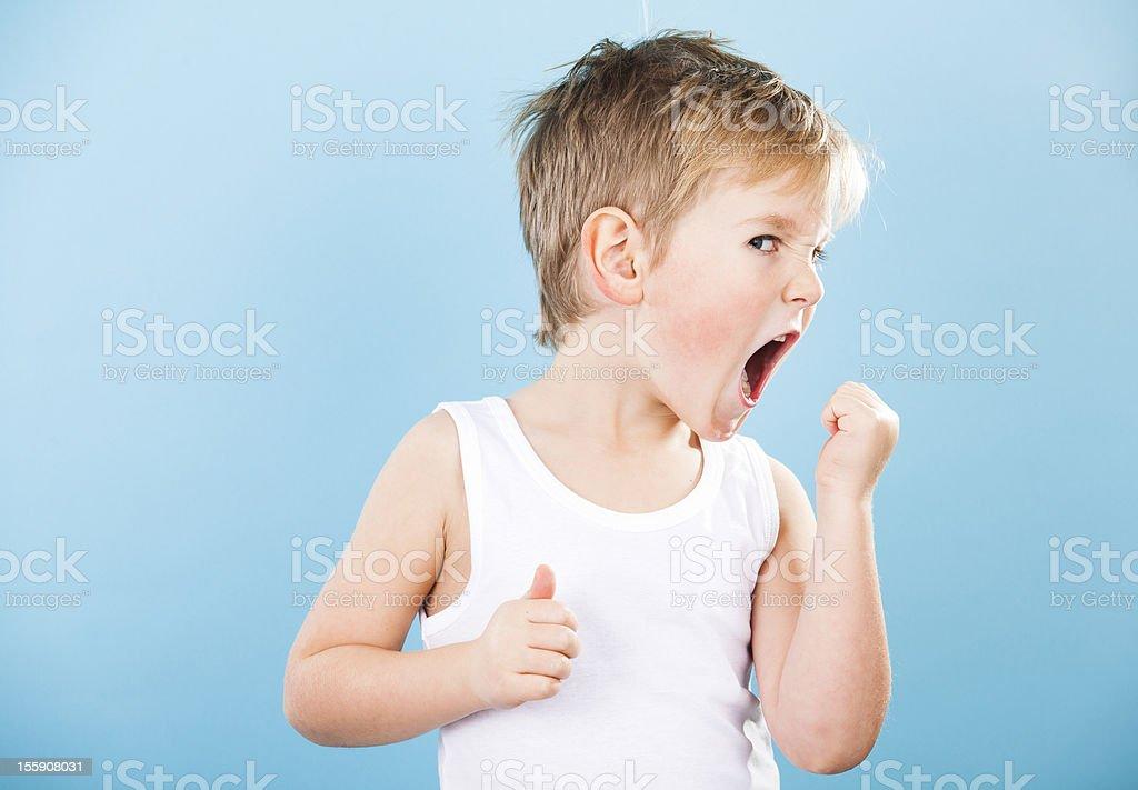 Intense Kid stock photo