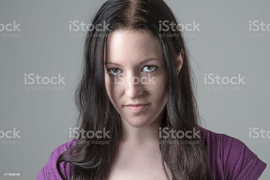 Intense look royalty-free stock photo