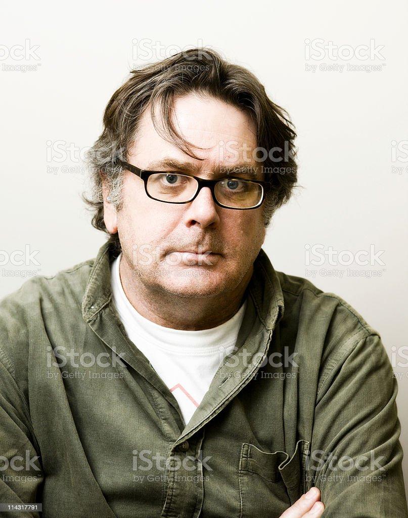Intense man stock photo