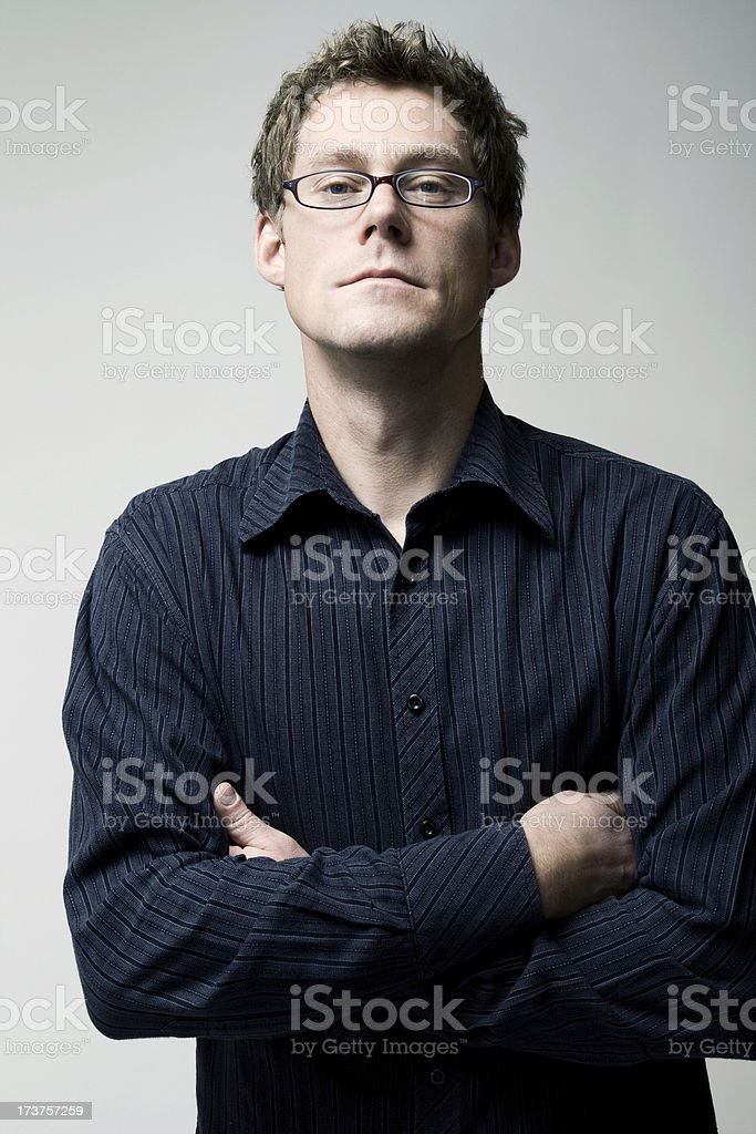 Intense Man stock photo