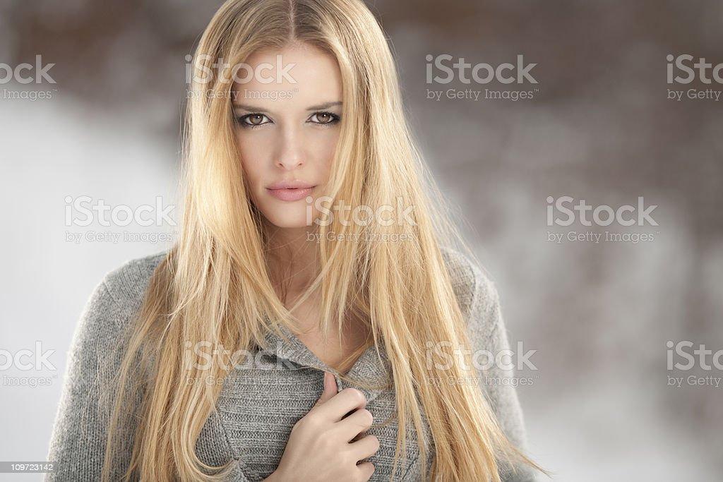 Intense Outdoor Portrait (XXXL) royalty-free stock photo