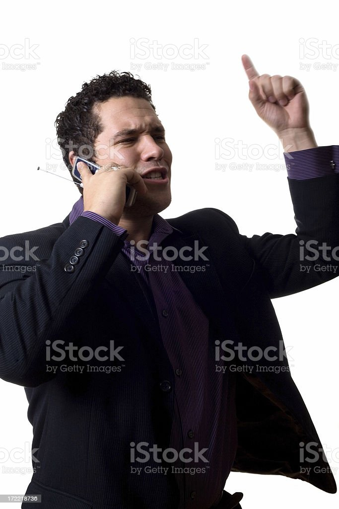 intense phonecall royalty-free stock photo