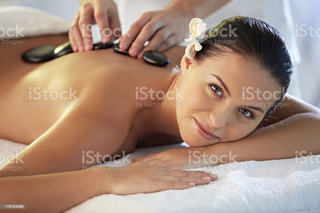 Intense relaxation royalty-free stock photo