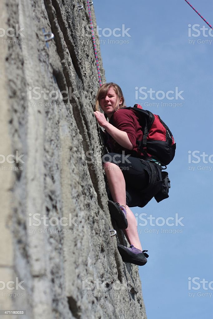 Intense Rock Climber stock photo