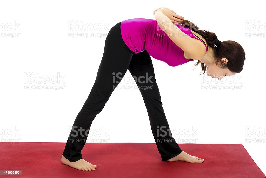 Intense Side Stretch Pose in Yoga stock photo