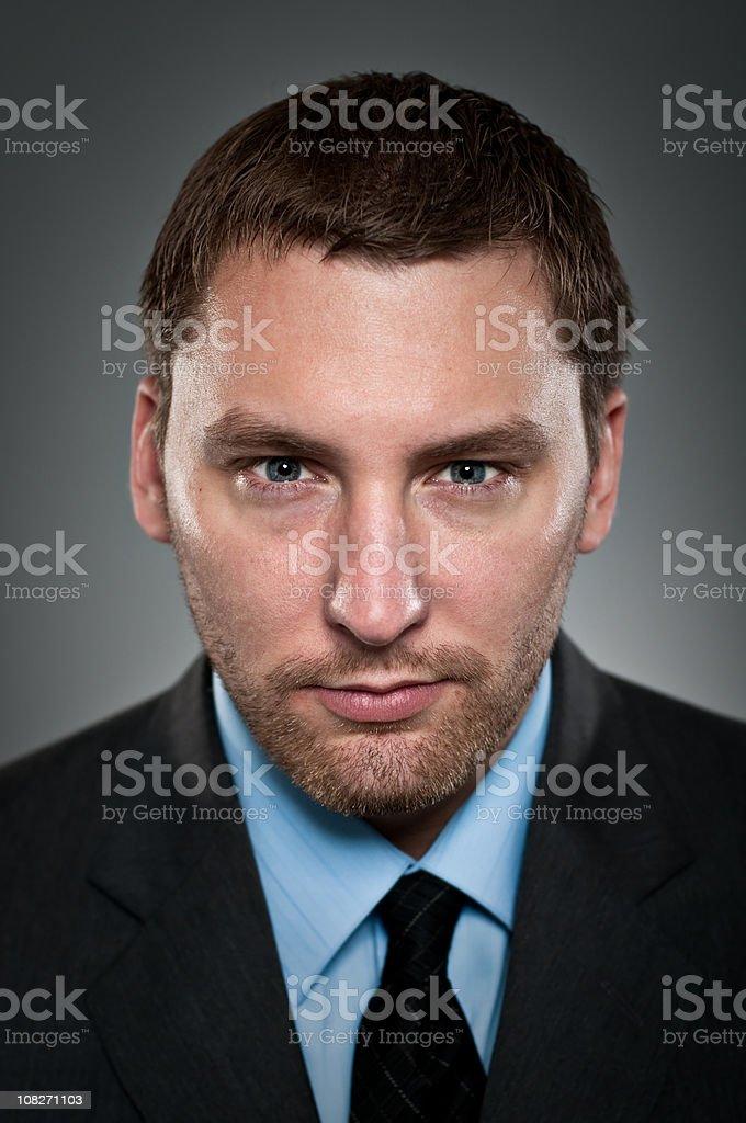 Intense Stare Businessman Portrait royalty-free stock photo