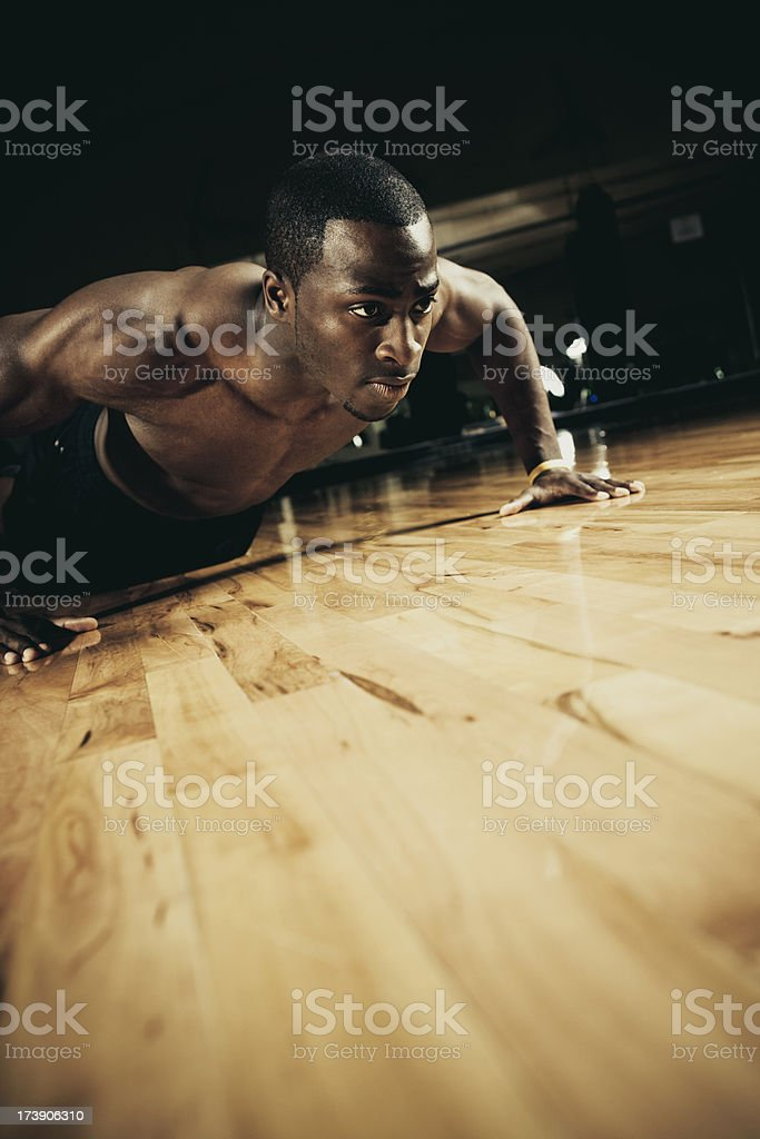 intense workout royalty-free stock photo