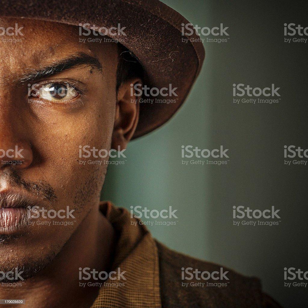 Intense Young Man stock photo