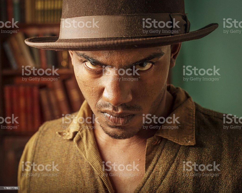 Intense Young Man royalty-free stock photo