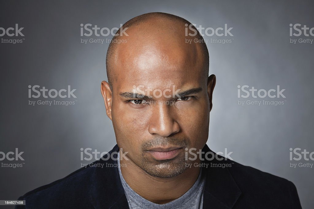 Intense young man portrait royalty-free stock photo