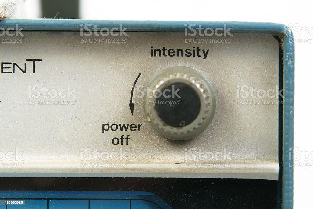 Intensity Knob royalty-free stock photo