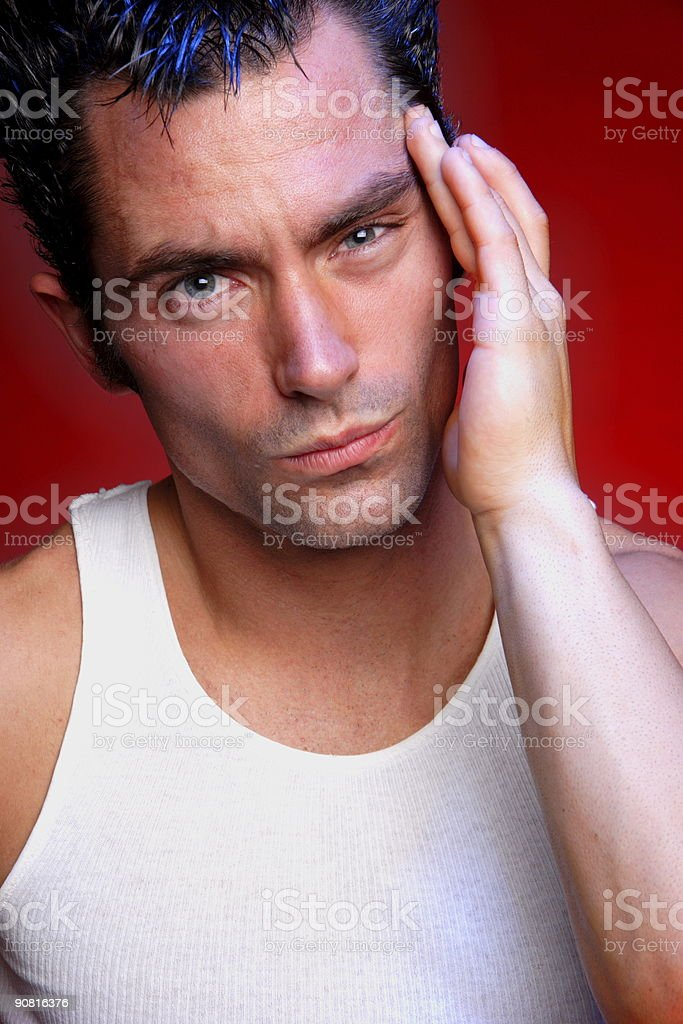 intensity - young american male stock photo