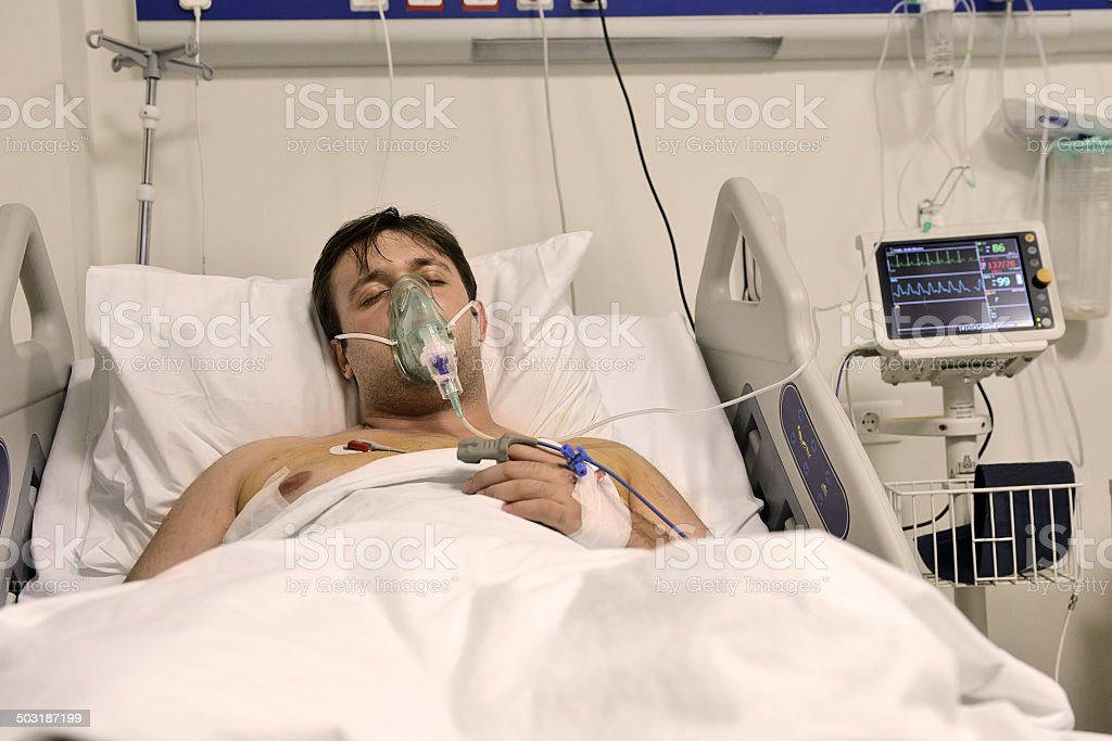 Intensive care stock photo