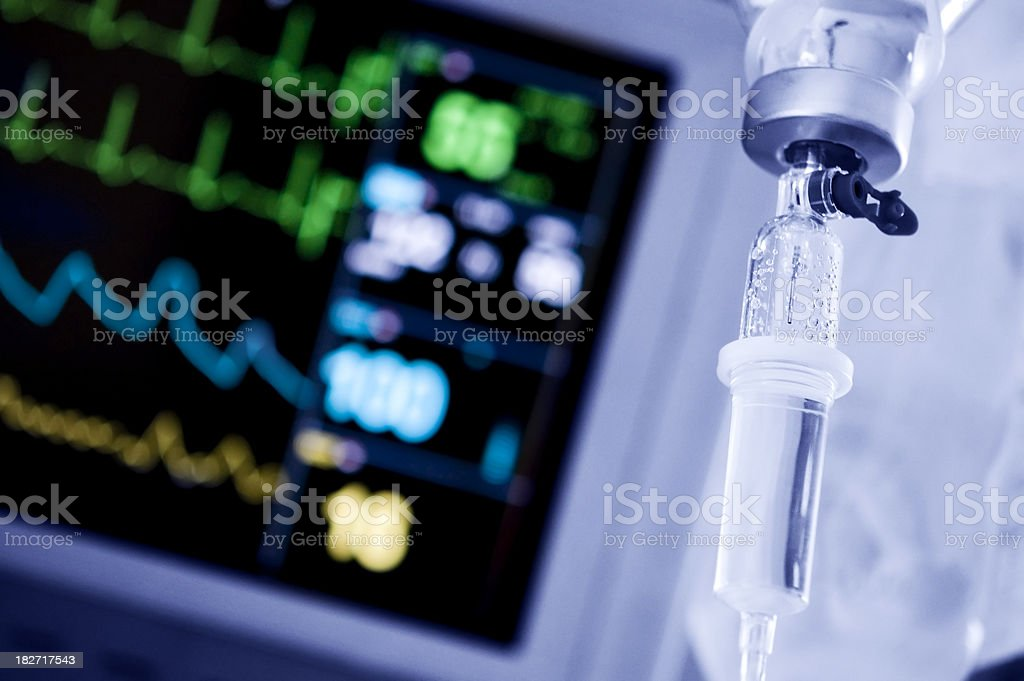 Intensive care unit monitor stock photo