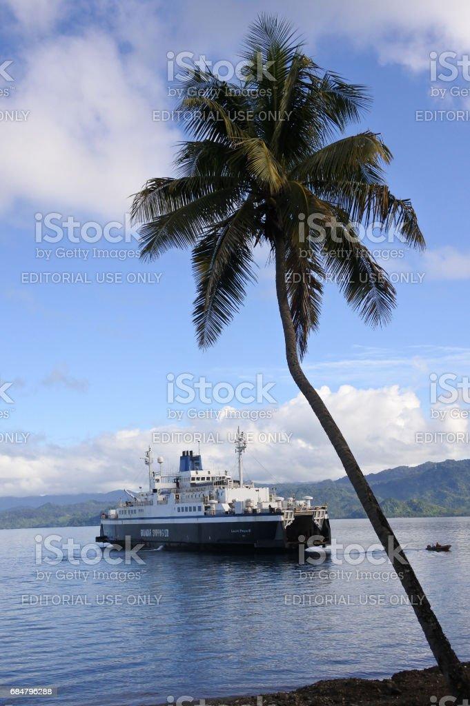 Inter island ferry in Vanua Levu Fiji stock photo