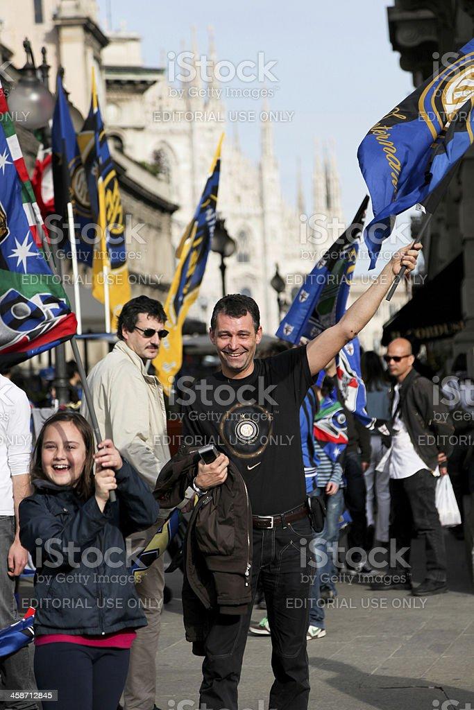 F.C. Inter Milano celebration stock photo