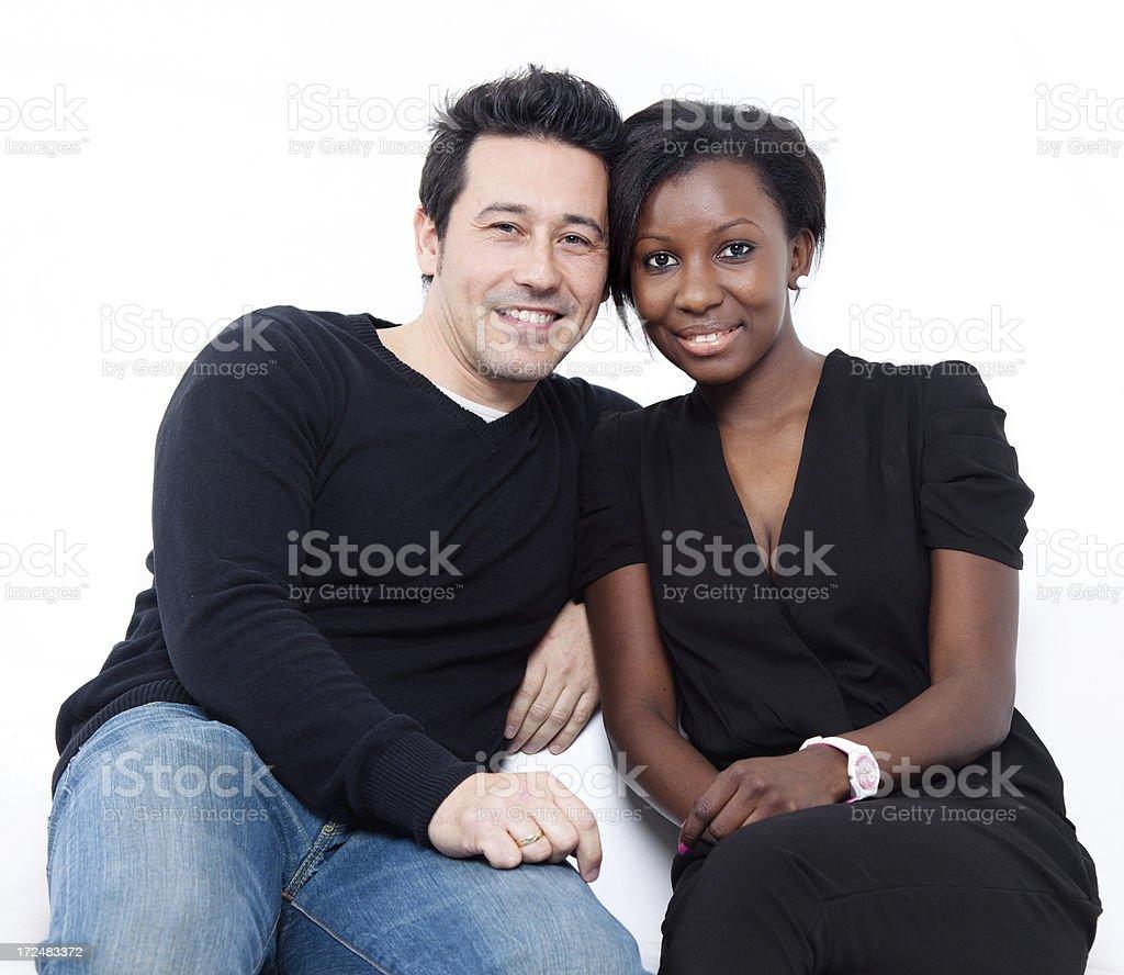 Interacial couple royalty-free stock photo